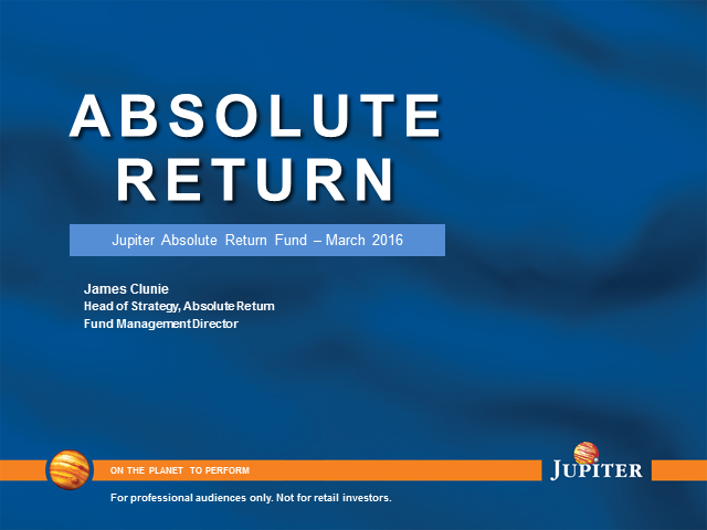 Jupiter Absolute Return Fund live update