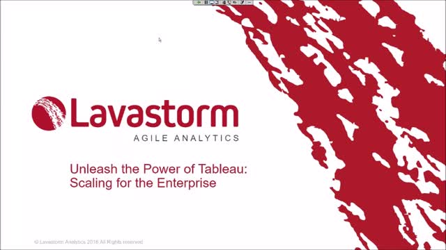 Unleash the Power of Tableau: Scaling for the Enterprise