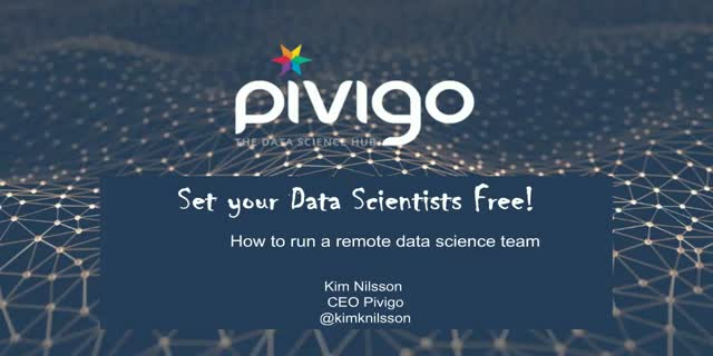 Set your Data Scientists Free! How to run a remote data science team