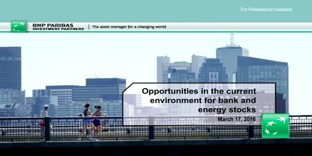 Opportunities in the current environment for bank and energy stocks