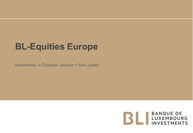 Investments in European equities + fund update