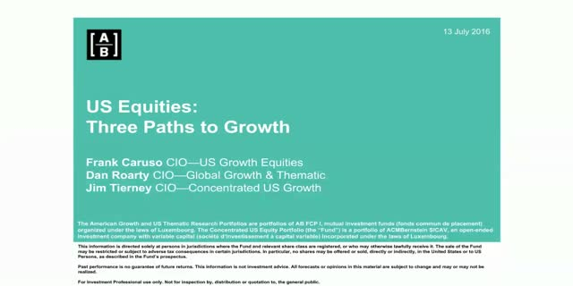 Three Paths to Growth in US Equities