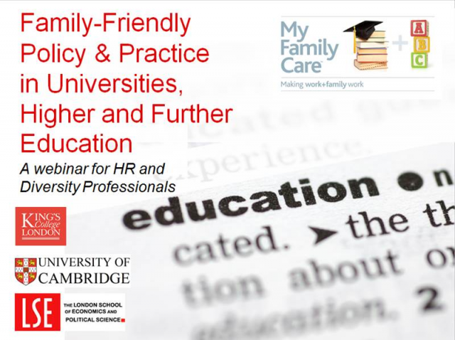 An Education in Family Friendly Policy & Practice