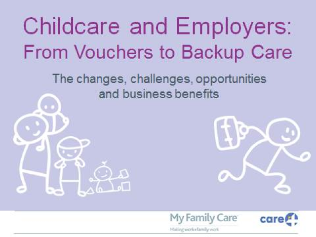 Childcare and Employers: From Vouchers to Backup Care