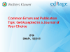 Common errors and publishing tips (in Mandarin)