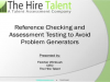 Reference Checking & Assessment Testing to Avoid Toxic Employees