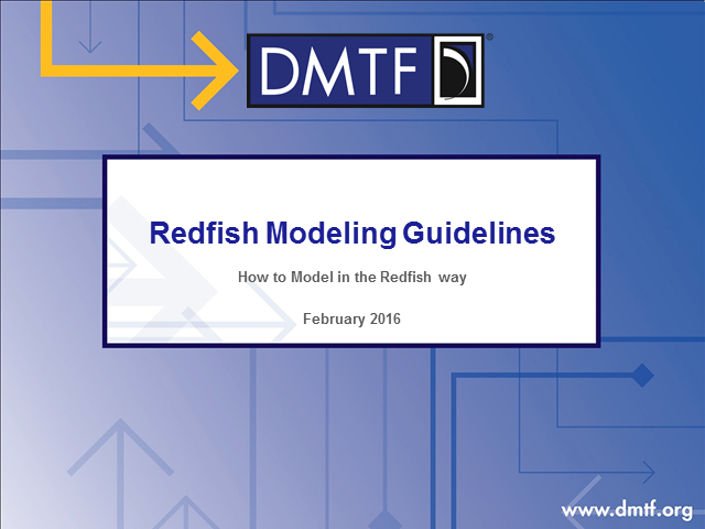 Modeling Systems Management Data the Redfish Way