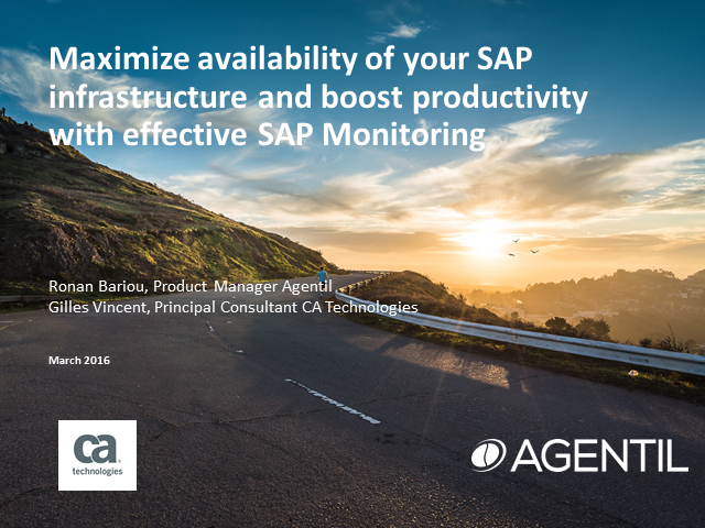Maximize availability and performance of your SAP infrastructure