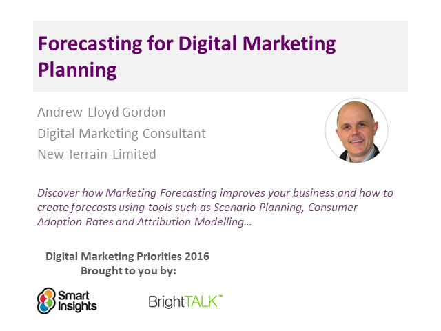 Forecasting for Digital Marketing Planning