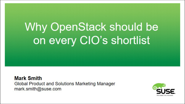 Why OpenStack should be on every CIO's Shortlist
