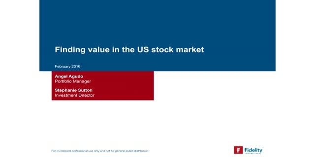 Finding value in the US stock market