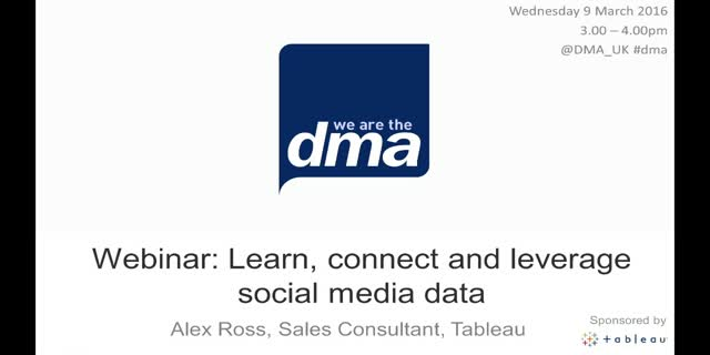 Webinar: Learn, connect and leverage social media data