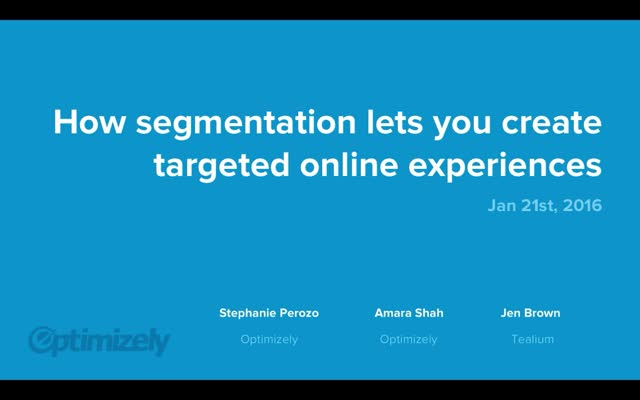 How Segmentation Lets You Create Targeted Online Experiences