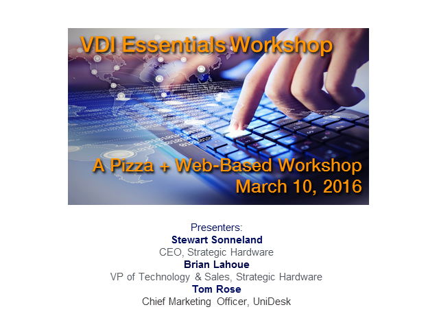 VDI Essentials Workshop