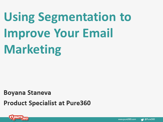 Using Segmentation to Improve your Email Marketing