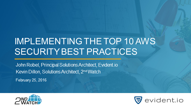 Implementing the Top Ten AWS Security Best Practices
