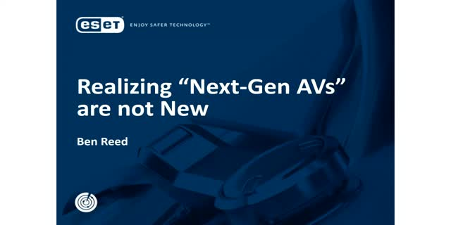 "Webcast: Realizing ""Next-Gen AV's"" are not new"