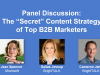 "Panel Discussion: The ""Secret"" Content Strategy of Top B2B Marketers"