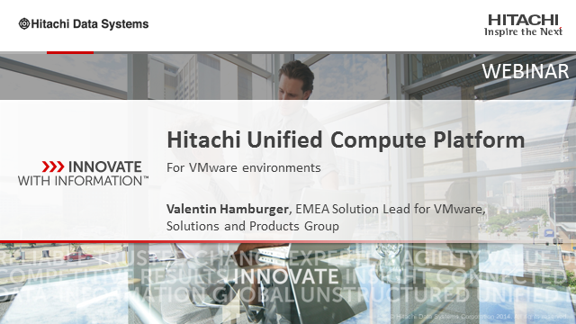 Hitachi Unified Compute Platform for VMware Environments