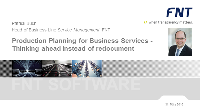 Production Planning for Business Services – Thinking ahead instead of redocument