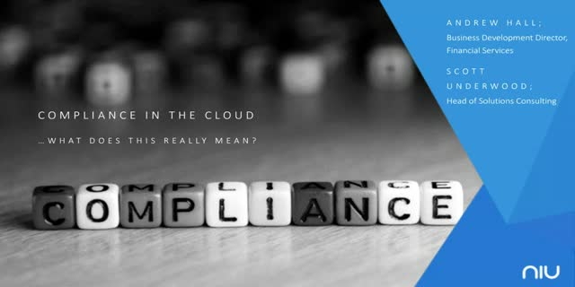 Compliance in the Cloud...what does this really mean?