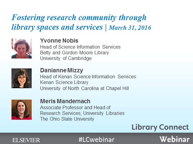 Fostering research community through library spaces and services