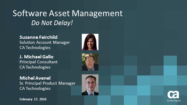Software Asset Management: Do Not Delay!
