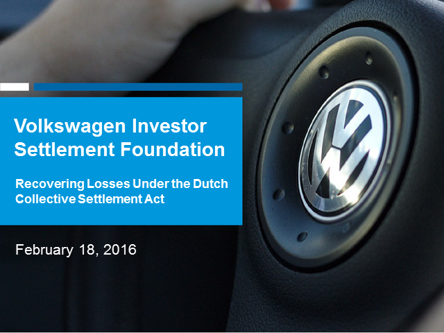 Volkswagen Investor Settlement Foundation