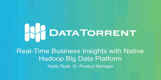 360° Real-Time Business Insights with Native Hadoop Big Data Platform