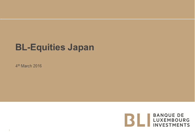 Investments in Japan: high-quality companies benefitting from structural reforms