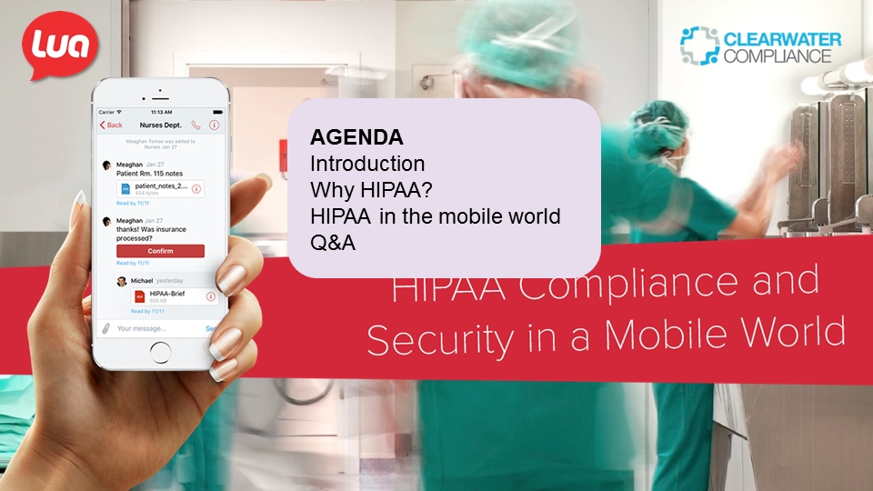 HIPAA Compliance and Security in a Mobile World