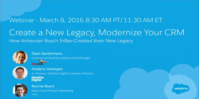 Create a New Legacy, Modernize Your CRM