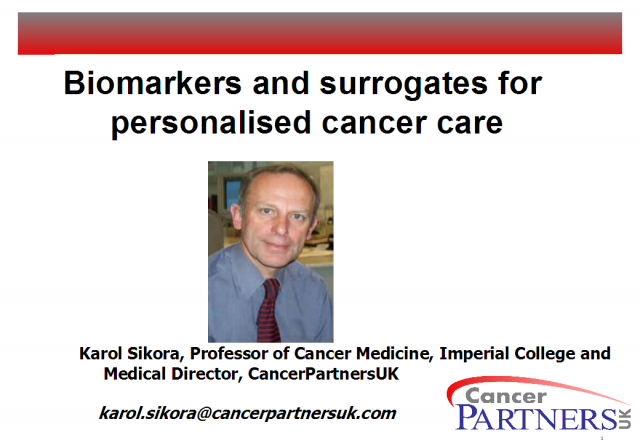 Biomarkers and Surrogates in Personalised Cancer Care