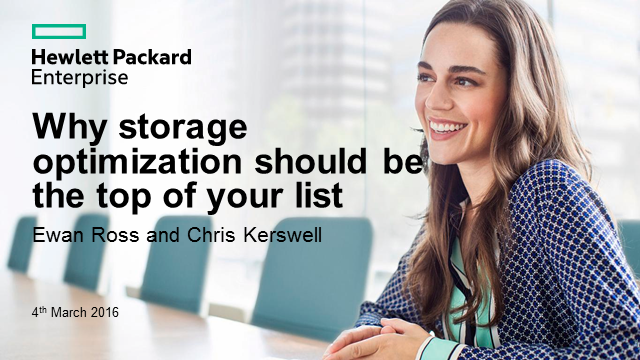 Storage Optimizer Webinar
