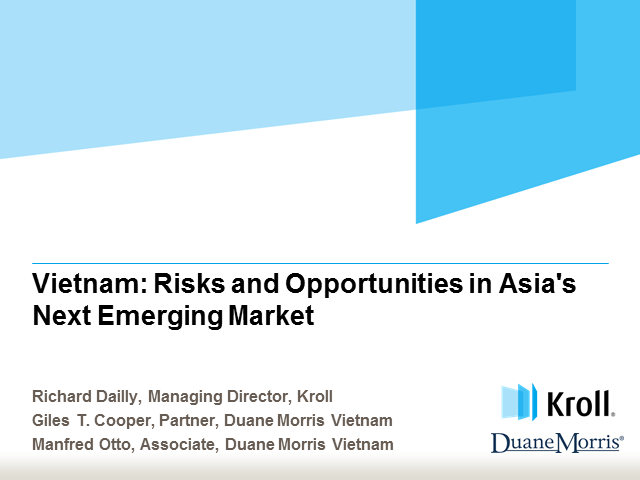 Vietnam: Risks and opportunities in Asia's next emerging market