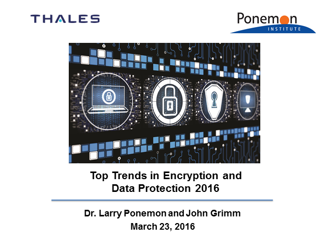 2016 Top Trends in Encryption and Data Protection