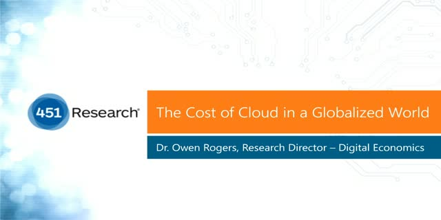 The Cost of Cloud in a Globalized World