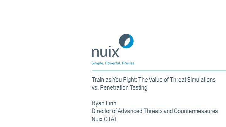 Train as You Fight: The Value of Threat Simulations vs. Pen Testing