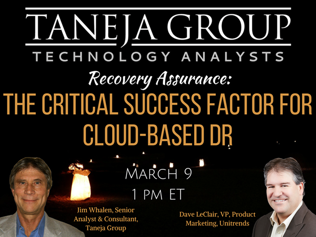 Recovery Assurance: The Critical Success Factor for Cloud-based DR