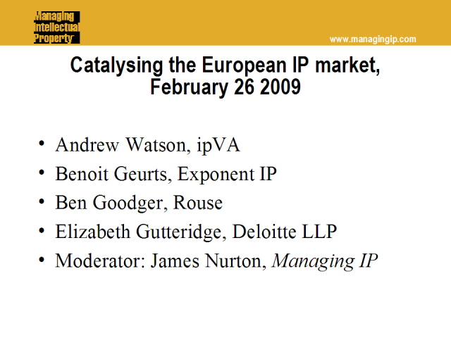 Catalysing the European IP market