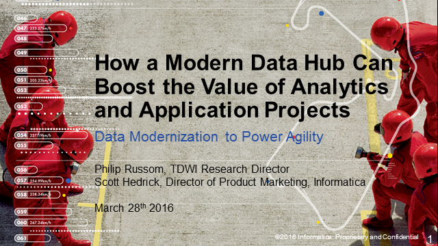 How a Modern Data Hub Can Boost the Value of Analytics and Application Projects