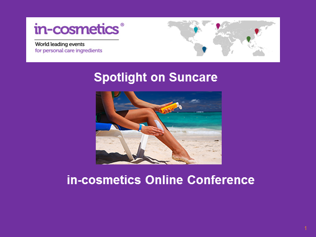 Online Conference: Spotlight on Suncare