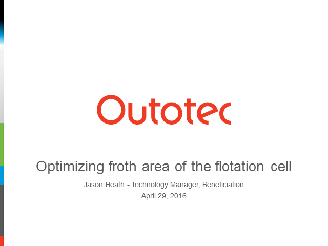 Optimizing froth area of the flotation cell