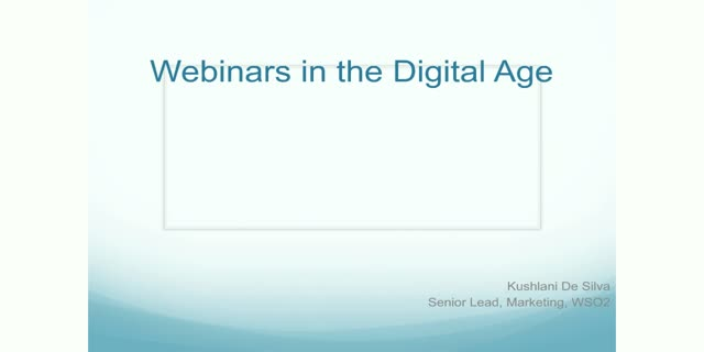 Webinars in the Digital Age