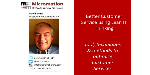Better Customer Service Desk using Lean IT Thinking