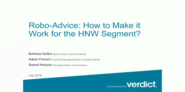 Robo-advice: how to make it work for HNW segment?
