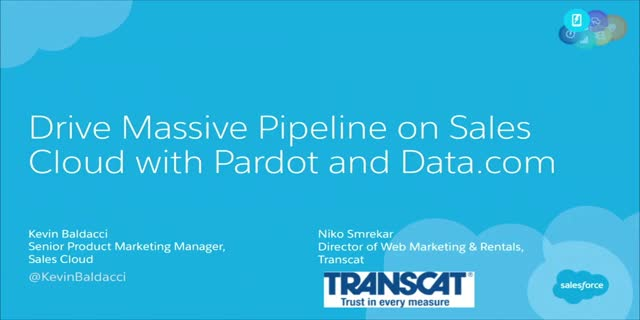 Drive Massive Pipeline on Sales Cloud with Pardot and Data.com