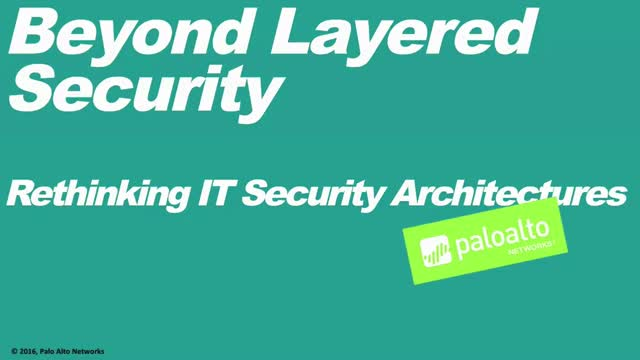 Why Layered Security Strategies Don't Work
