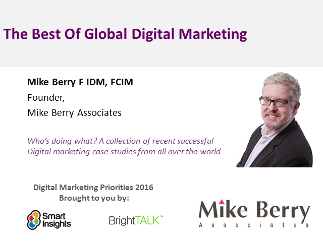The Best Of Global Digital Marketing: Case Studies