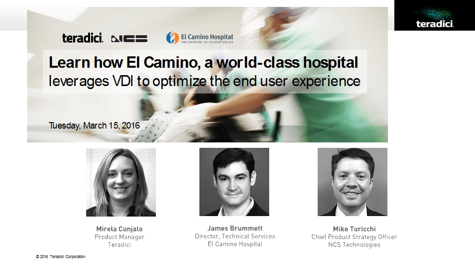 Learn how world class El Camino Hospital improved end user experience with VDI
